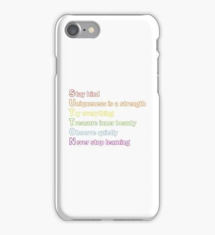 Sutton Foster - Life Lessons Acrostic | Color iPhone Case/Skin
