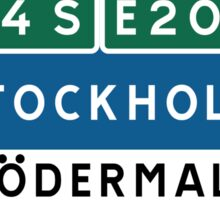 Stockholm-Södermalm Road Sign, Sweden Sticker