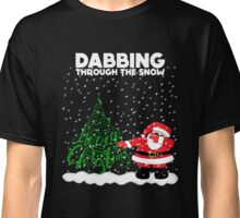 Cute Funny Dabbing Through the Snow Classic T-Shirt