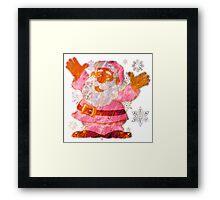 SANTA CLAUS MERRY CHRISTMAS Framed Print