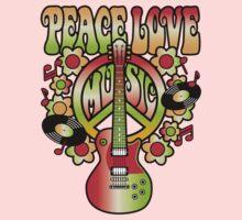 Peace-Love-Music One Piece - Long Sleeve