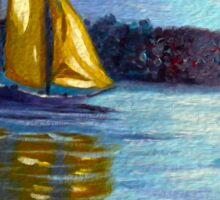 sailboats, sailing, wall art, nautical art, home decor, ocean painting Sticker