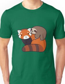 Little Sloth and Red Panda Unisex T-Shirt