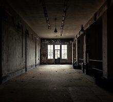 Dark and abandoned interior of a power plant by iWorkAlone