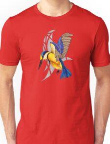 Sacred Kingfisher in flight Unisex T-Shirt