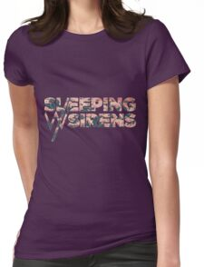 Sleeping with Sirens Flower Logo Womens Fitted T-Shirt