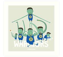 Warriors Super Team Art Print