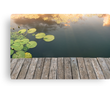 Peaceful place at the pond Canvas Print