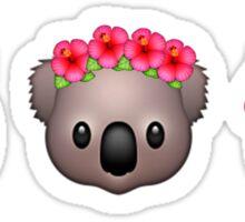 Flower Crown Emoji Animals Sticker