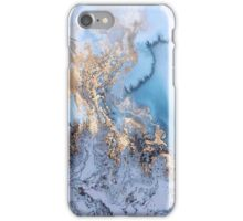 blue gold marble iPhone Case/Skin