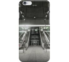 Moving escalator in the business center iPhone Case/Skin