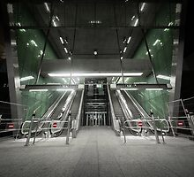 Moving escalator in the business center by iWorkAlone
