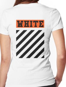 Off-White Orange Logo (White) Womens Fitted T-Shirt