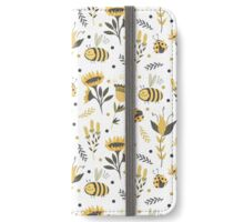Bees and ladybugs. Gold and black iPhone Wallet/Case/Skin