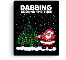 Cute Funny Dabbing Around the Tree Canvas Print