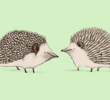 Two Hedgehogs by Sophie Corrigan