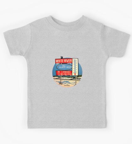 White River Ontario Canada Vintage Travel Decal  Kids Tee