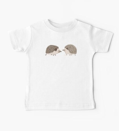 Two Hedgehogs Baby Tee