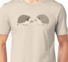 Two Hedgehogs Unisex T-Shirt