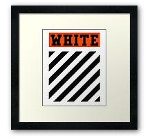 Off-White Orange Logo (White) Framed Print