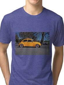 Yellow Volkswagen Beetle on Angas Creek Road Tri-blend T-Shirt