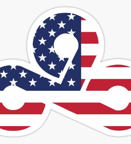 Cloud 9 logo American edition! Sticker