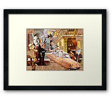 The Free Masons Wall. Framed Print