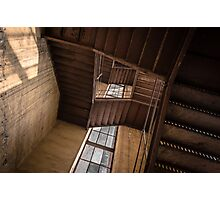 Industrial staircase going up to the tower Photographic Print