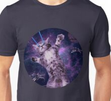 Space Cat Warrior Unisex T-Shirt