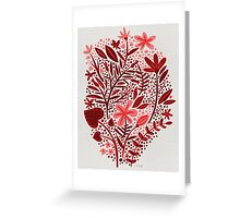 Red Garden Greeting Card