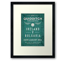 Weathered 1994 Quidditch World Cup Final Framed Print