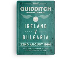 Weathered 1994 Quidditch World Cup Final Metal Print
