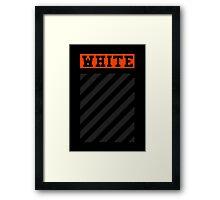 Off-White Orange Logo (Black) Framed Print