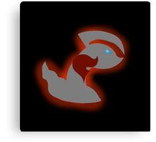 Pokemon Yveltal - Team Flare Silhouette Canvas Print