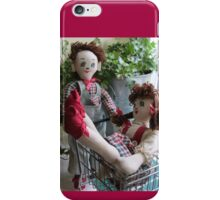 Boy dragging Girl Shopping - Cute couple of dolls iPhone Case/Skin