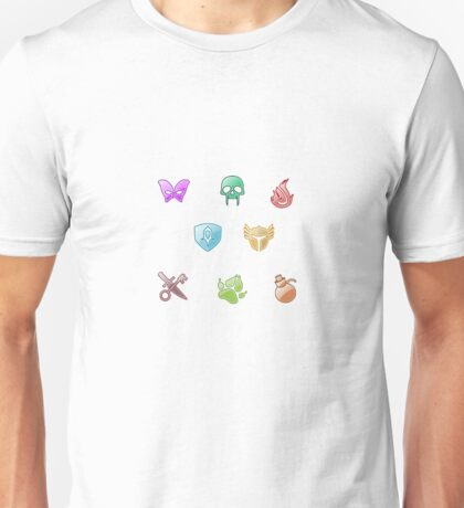 Guild Wars 2 Profession Pattern/Sticker Pack Unisex T-Shirt