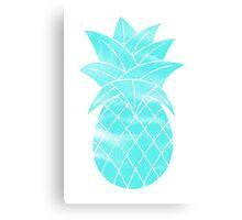 Teal Pineapple Canvas Print