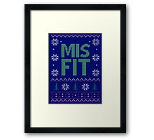 Misfit Ugly Sweater Framed Print