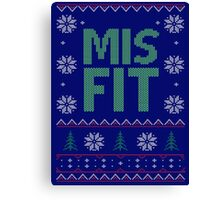 Misfit Ugly Sweater Canvas Print