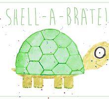 Tortoise Celebrate/Greetings Card by Francesca  Fearnley