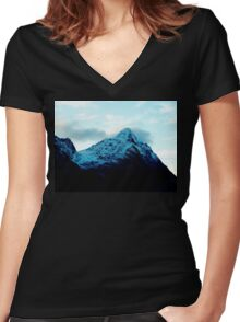 Throat of the World  Women's Fitted V-Neck T-Shirt