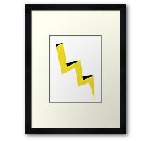 Yellow lightning bolt with black shadow Framed Print