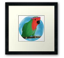 Bird in Flower Crown - C.King Framed Print