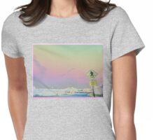 Vaporwave-Pastel Skies Photo Edit Womens Fitted T-Shirt
