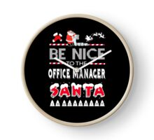 OFFICE MANAGER CHRISTMAS TIME Clock