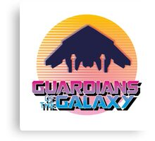 GUARDIANS OF THE GALAXY 80S LOGO Canvas Print