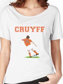 Johan Cruyff 'Turn' Vector Graphic Women's Relaxed Fit T-Shirt