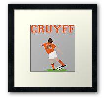 Johan Cruyff 'Turn' Vector Graphic Framed Print