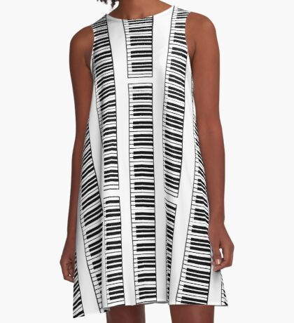 Keyboard A-Line Dress