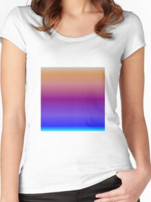 Color Gradient - Cyan | Blue | Purple | Bronze | Silver Women's Fitted Scoop T-Shirt